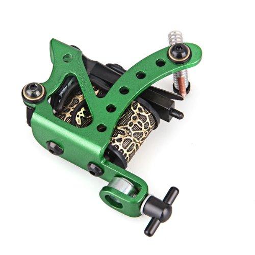 Professional Green Tattoo Machine Gun For Shader Liner 8