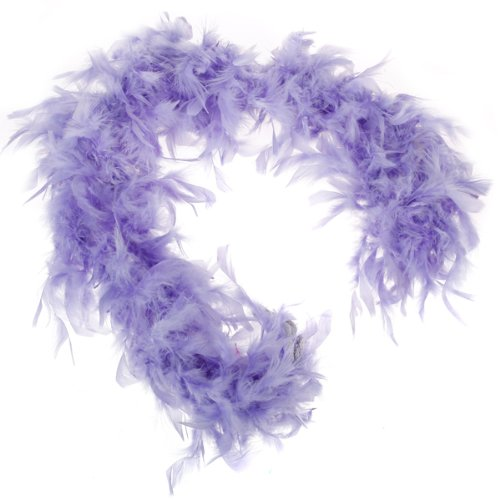 Purple Feather Boa Fluffy Craft Decoration 6.6 Feet Long G6S1