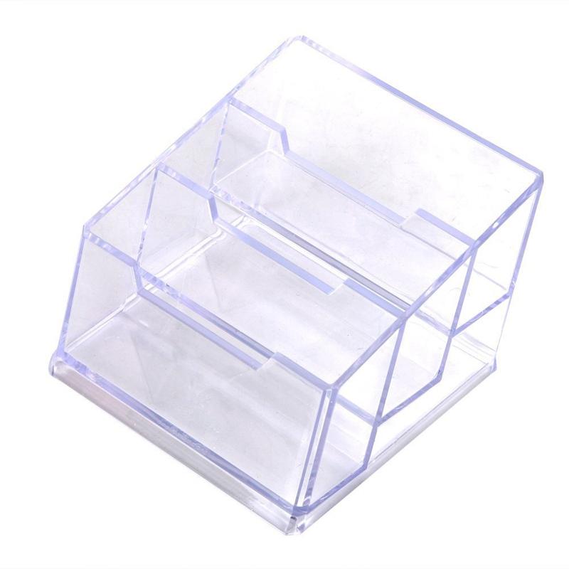Visitenkartenbox 3 Faecher Visitenkartenhalter Visitenkartenstaender Material J1