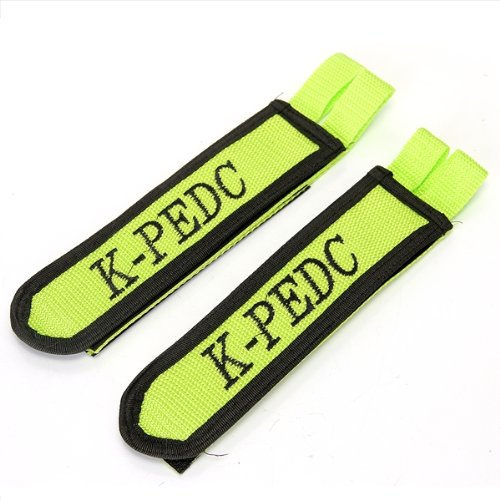 2x Pedals + Straps Green for Folding Bike Bicycle Cycling W9S7