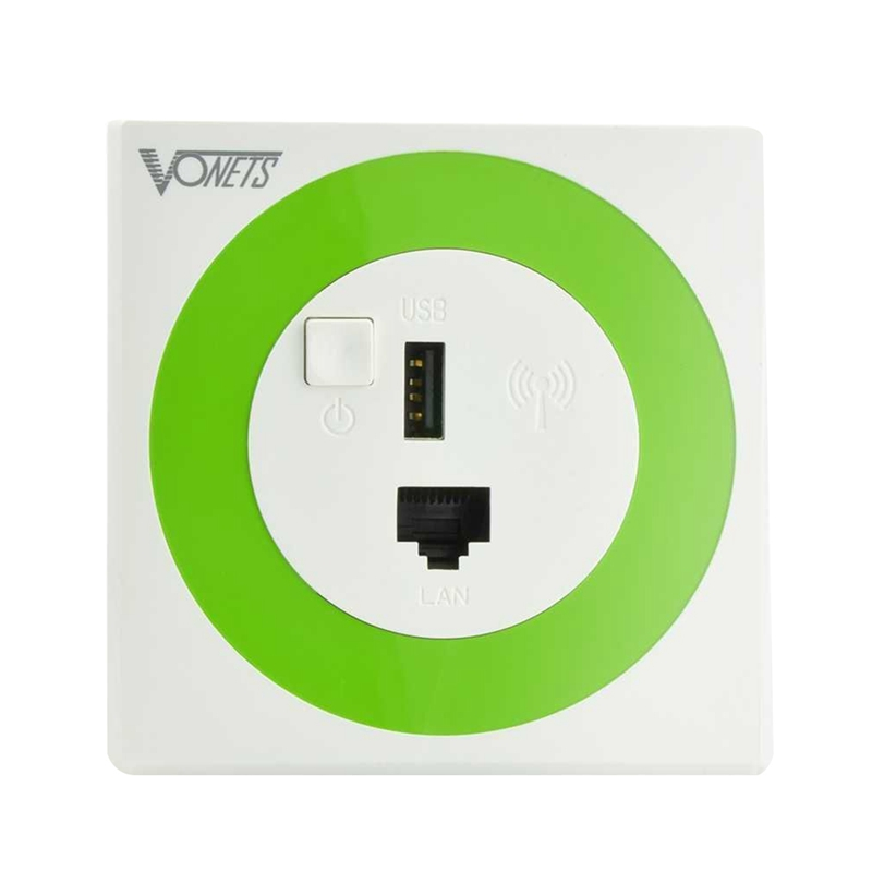 Vonets Router Bridge In Wall Wireless Wi-fi, 300mbps Wall, With 2.1a Usb P1i7