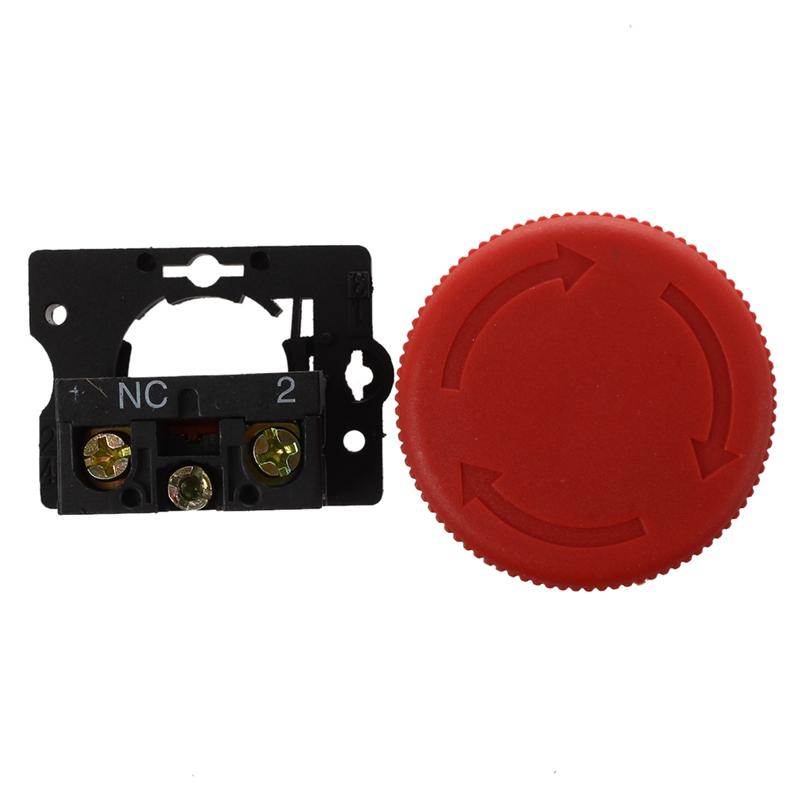 5X-22mm-NC-N-C-Interruptor-de-boton-pulsador-de-parada-de-emergencia-de-ret-H9I6