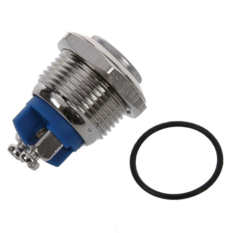 Normalerweise offen NO N O 16mm Metall Taster Rundtaster Schalter AC 250V JKSY