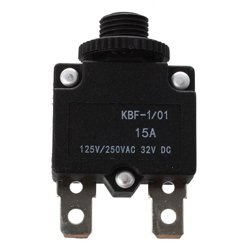 SODIAL Protecteur thermique de surcharge de disjoncteur de AC 125 250V 10A noir