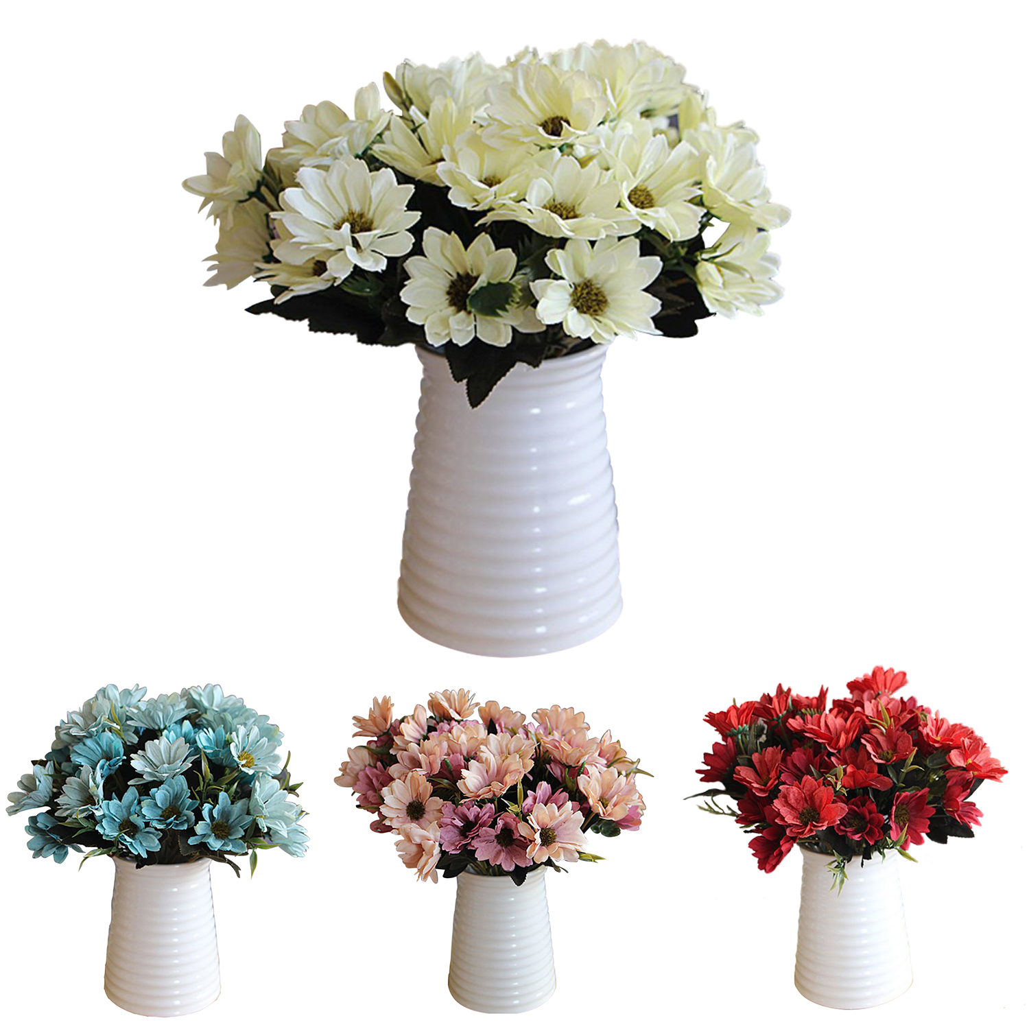 A Bunch Of Man Mad Bridal Daisy Flowers Fake Silk Bouquet Home Party