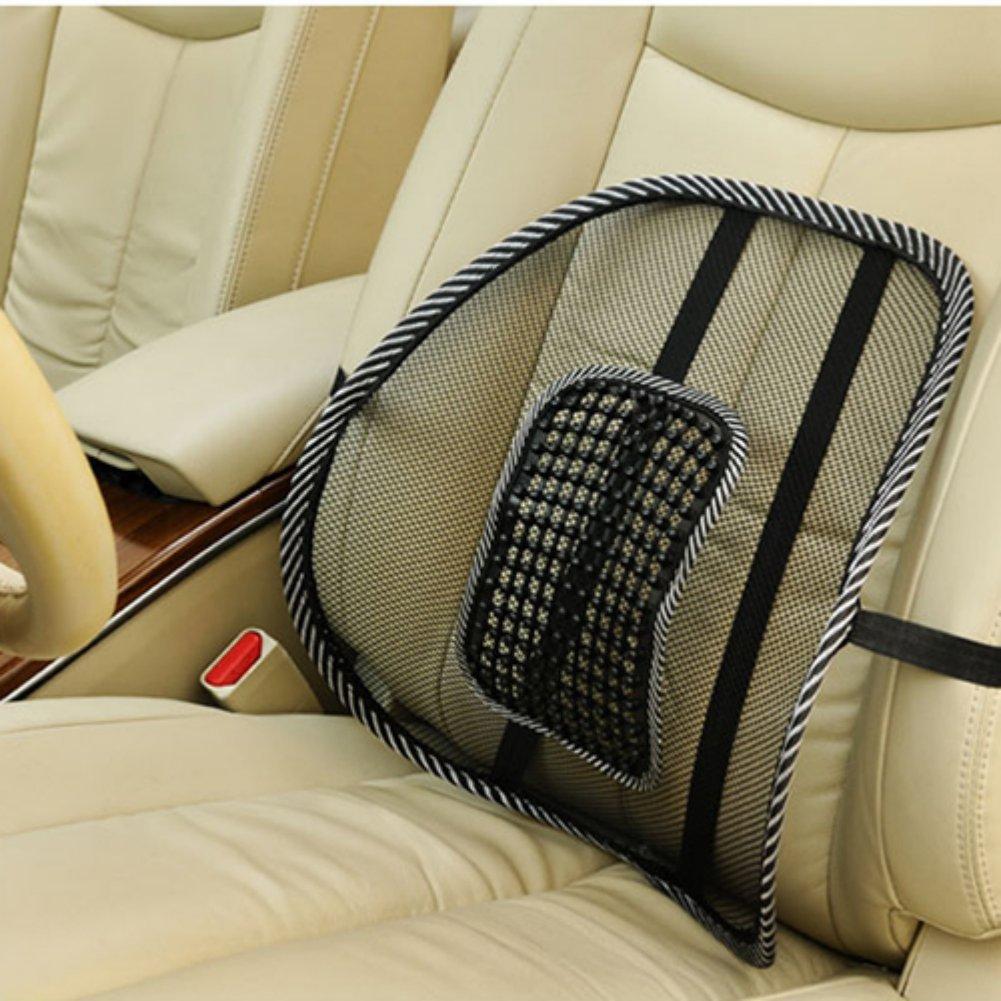 mesh back lumbar support massage beads for car seat massage cushion pk ebay. Black Bedroom Furniture Sets. Home Design Ideas