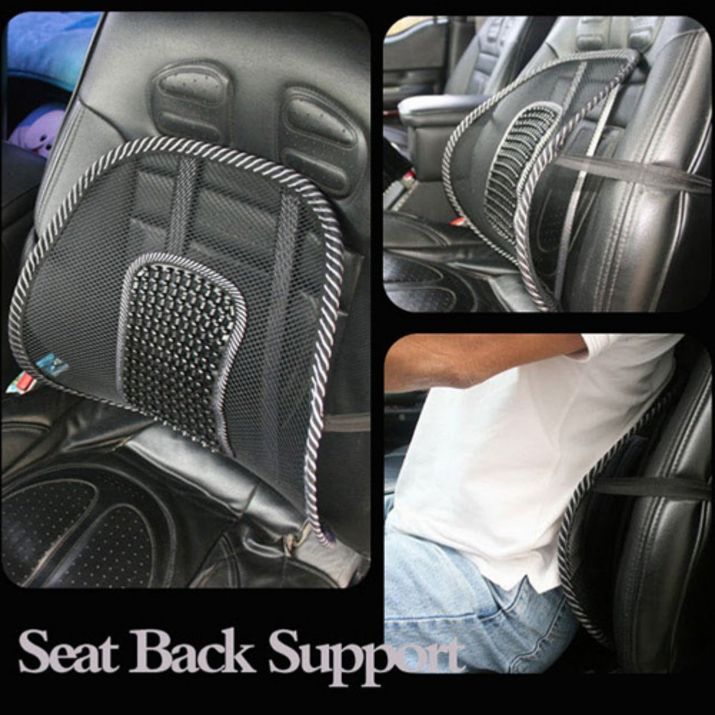 Mesh Back Lumbar Support Massage Beads For Car Seat