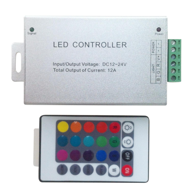 RGB LED Light String Dimmer Wireless Remote Controller 24Key 12-24V F3V9