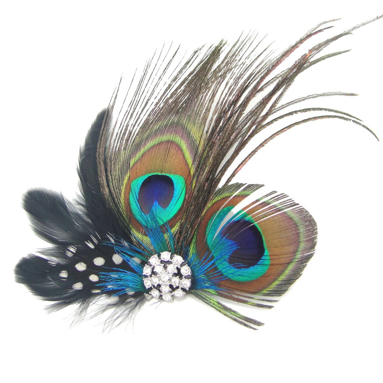 Cute Peacock Feather Bridal Wedding Hair Clip Headpiece ...