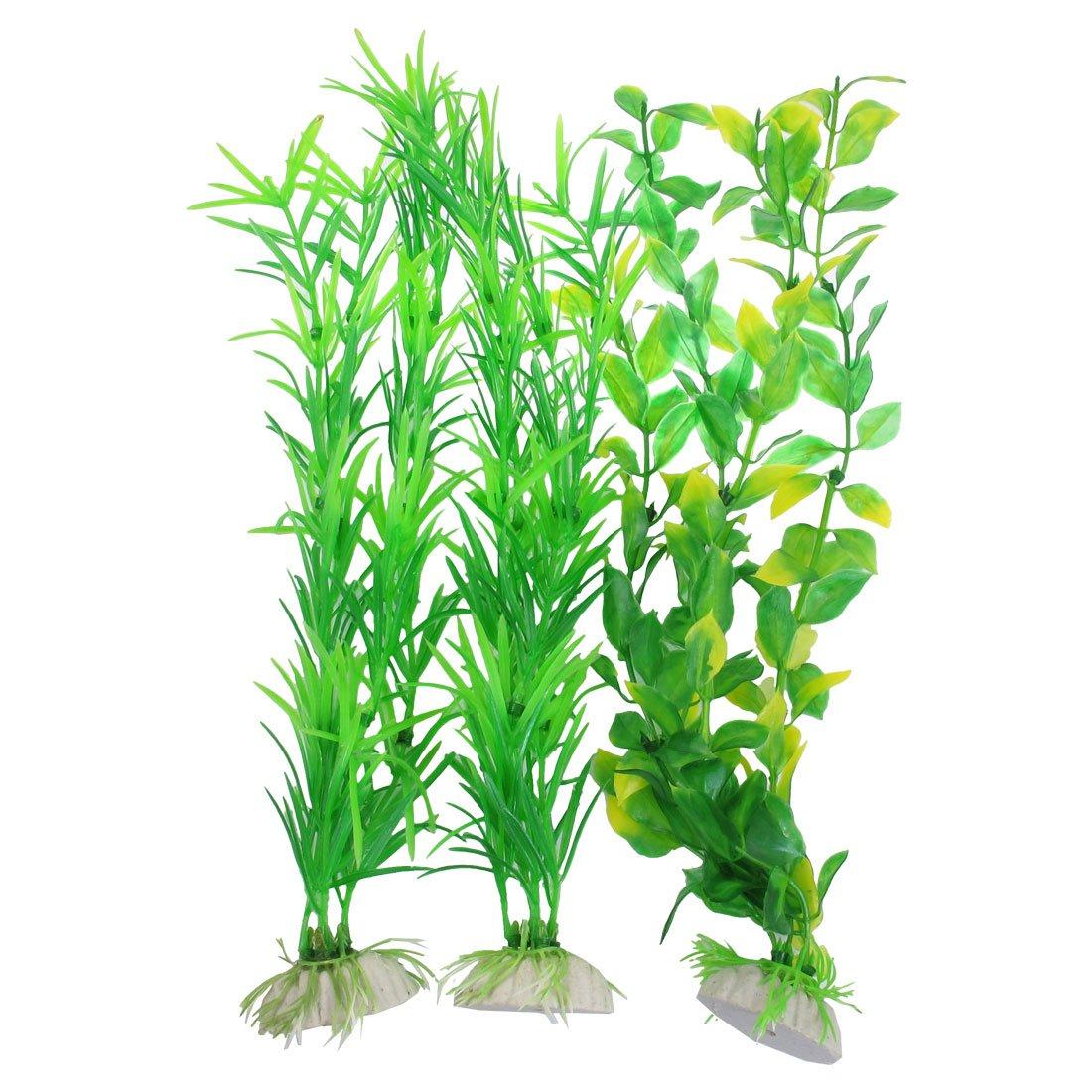 3pzs plantas artificiales de plastico verde amarillo de for Plantas decorativas de plastico