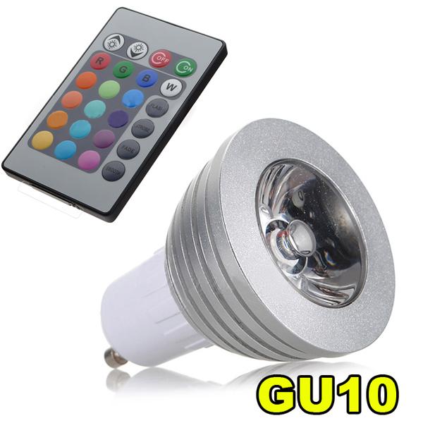 gu10 led rgb leuchtmittel farbwechsel strahler lampe y4h2 ebay. Black Bedroom Furniture Sets. Home Design Ideas