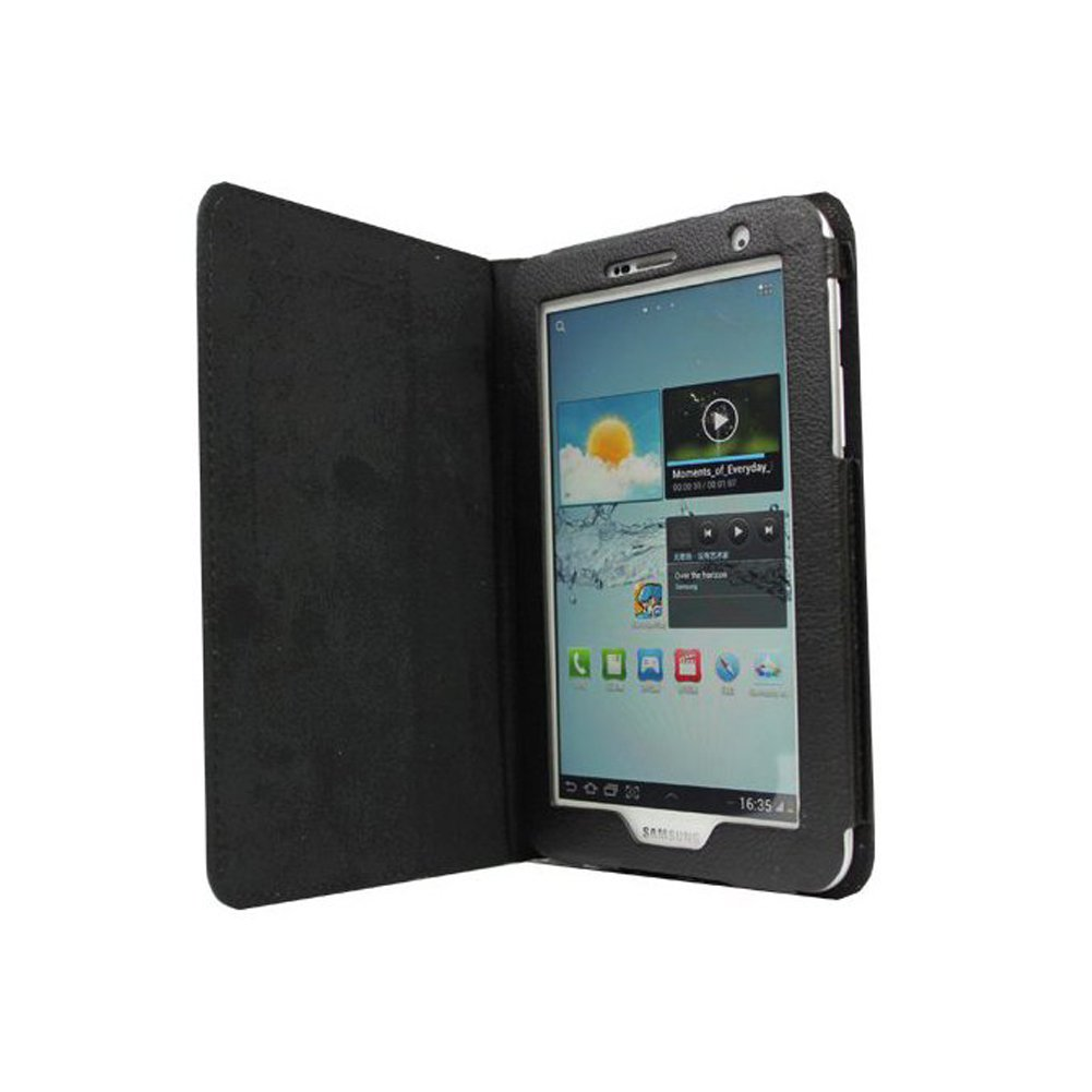 """Material: Synthetic Leather Color: Black Size: perfect fit. Accessory Only, Device not included. Compatible With SAMSUNG: Galaxy Tab 2 P3100 7.0"""""""