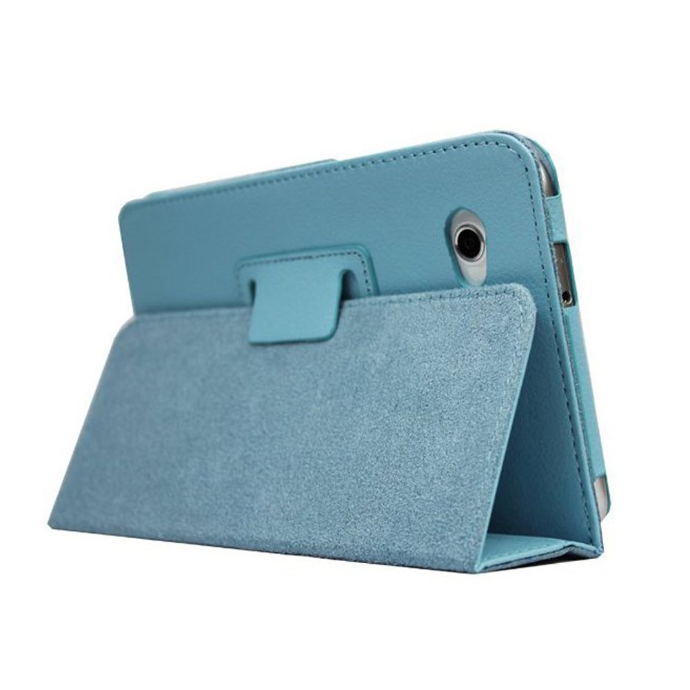 """Material: Synthetic Leather Color: Blue Size: perfect fit. Accessory Only, Device not included. Compatible With SAMSUNG: Galaxy Tab 2 P3100 7.0"""""""