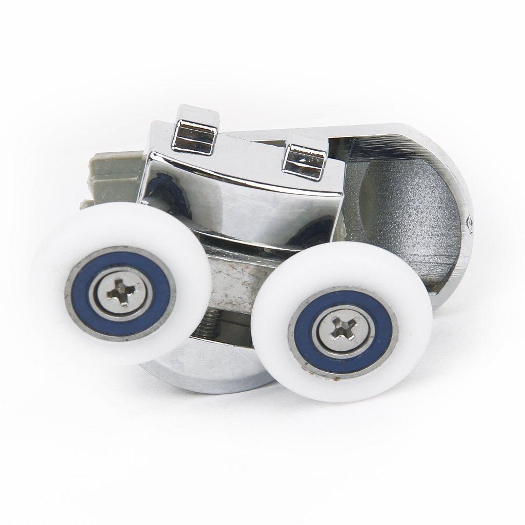 1 paire de roues roulettes rouleaux de porte de douche diametre de 25mm o3y7 ebay. Black Bedroom Furniture Sets. Home Design Ideas