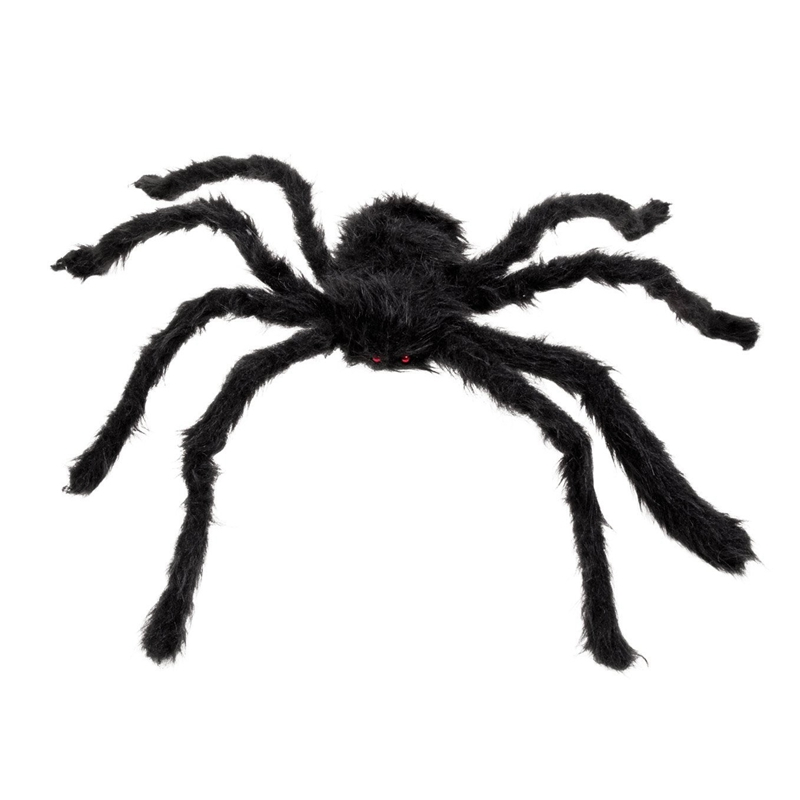 5X-New-30cm-Black-Spider-Plush-Puppet-Toy-Halloween-Decor-X7A9