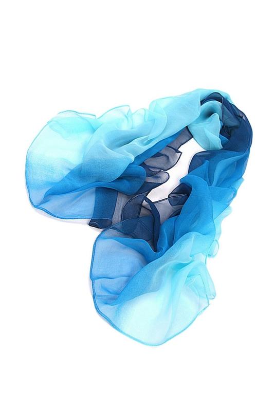 1A Grau bis Weiss Gradient Farbe Umhang Damen Schal Seide Chiffon Schal Schals