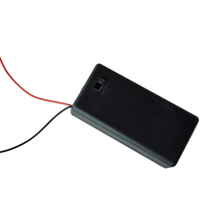 5x-Sostenedor-de-bateria-de-plomo-5-5-034-de-interruptor-ON-OFF-Caja-estuche-para-9