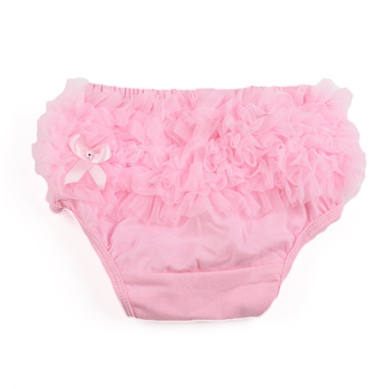Briefs Bloomer Cover layer for Bebe Girl Photography Prop Size S - Pink R1J2