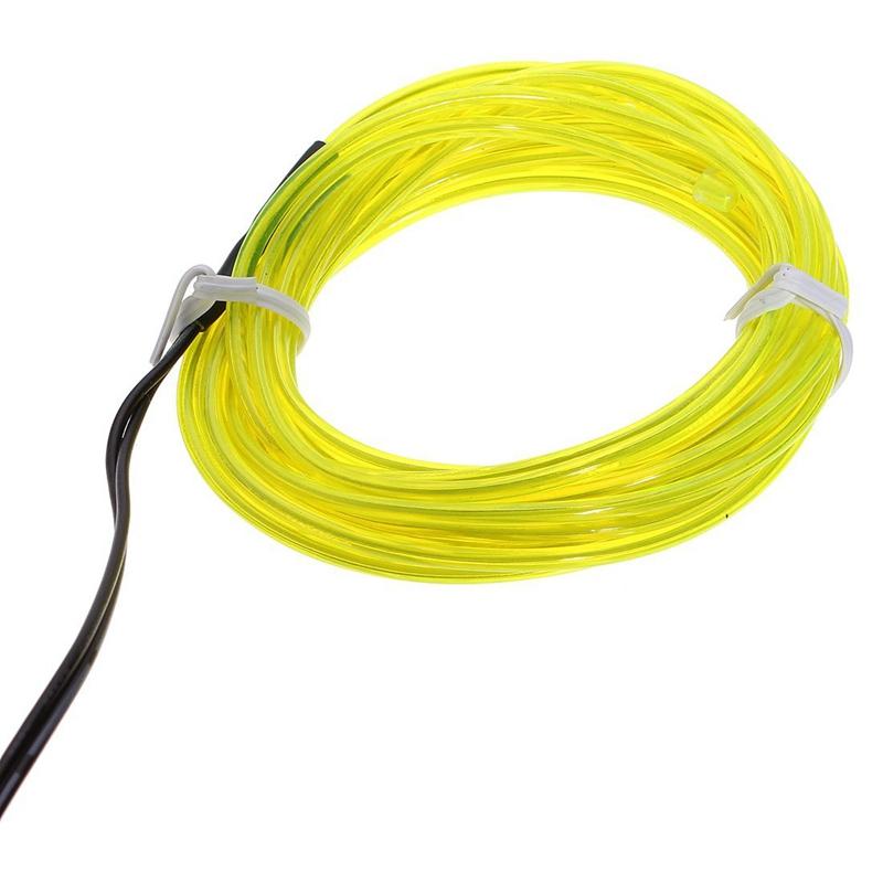 5X-2M-Tira-Cable-EL-Lampara-Neon-Flash-Brillo-Flexible-Verde-Fluorescente-M1R6