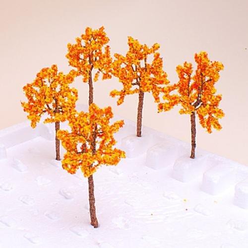 10X(Model Tree Train arancia arancia arancia Flowers Set Scenery Landscape OO HO 0PCS H1W8) 90ca99