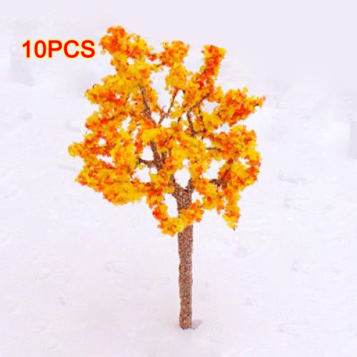 10X (Förlaga Tree Train orange Flågers Set Scener Landscape OO HO - 10PCS H1W8)