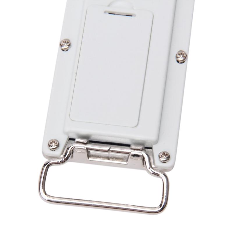 DIY-Linterna-de-cromo-azul-desplazamiento-LED-hebilla-de-cinturon-J7U3