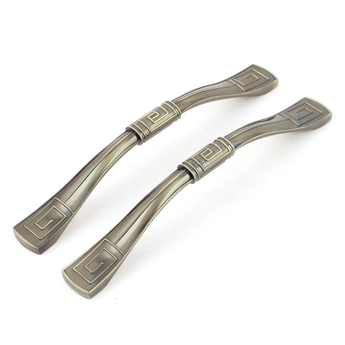 2 Stueck 128mm Lochabstand Bronze Ton Tuer gepraegte Ziehen Griffe ...