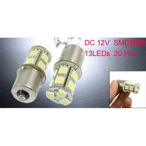 Auto 1156 BMA5S P21W 5050 SMD 13 LED-Rueck Schalten Bremslichtlampe 20 Stueck MA