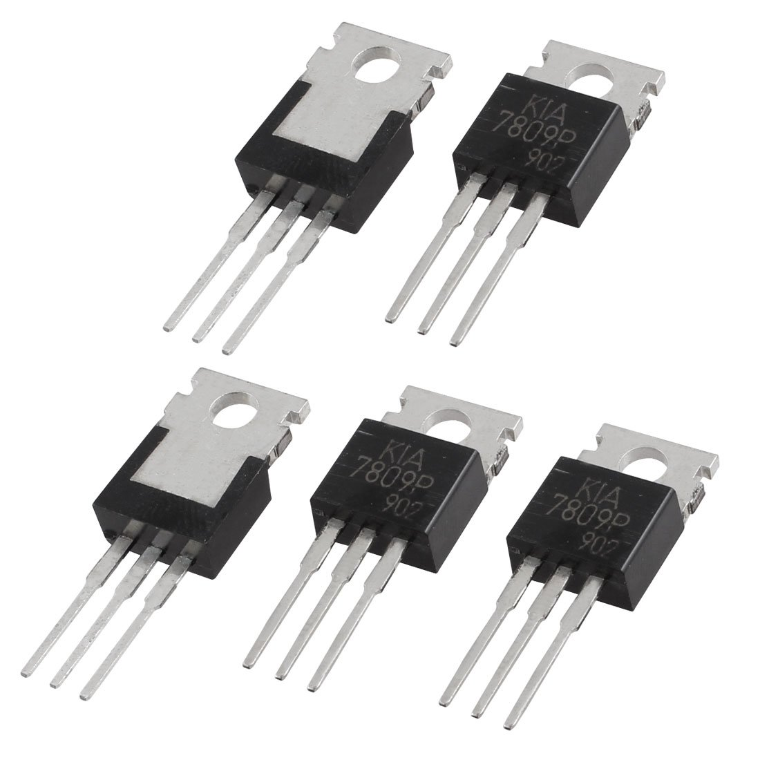 5 pcs l7809cv 3 terminals through hole 1 5a 9v postive