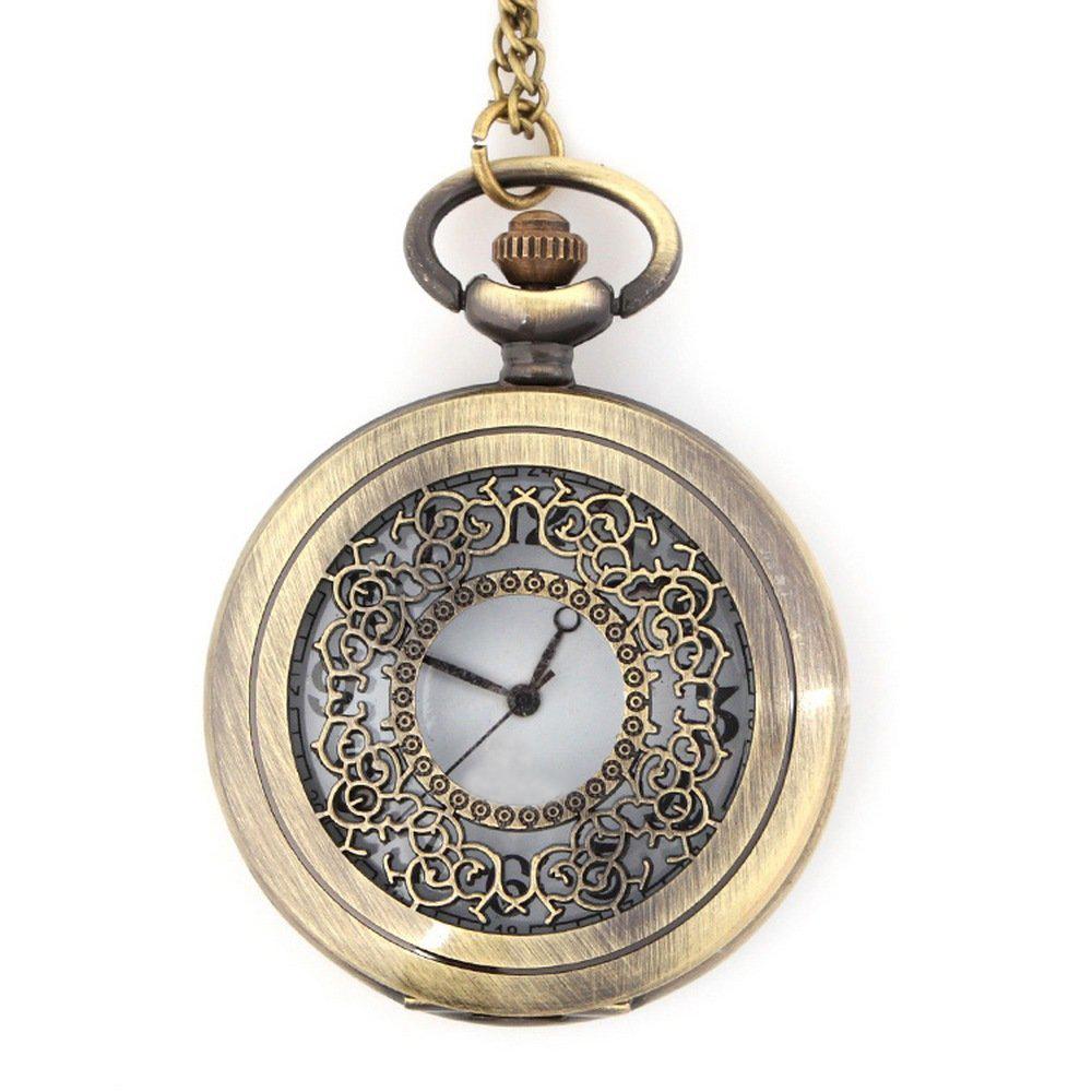 Reloj de cuarzo de diseno de la vendimia de bronce de - Reloj de cadena ...