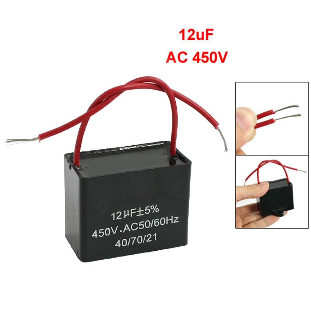 Cbb61 12uf ac 450v 50 60hz motor run ceiling fan capacitor for Capacitor for fan motor