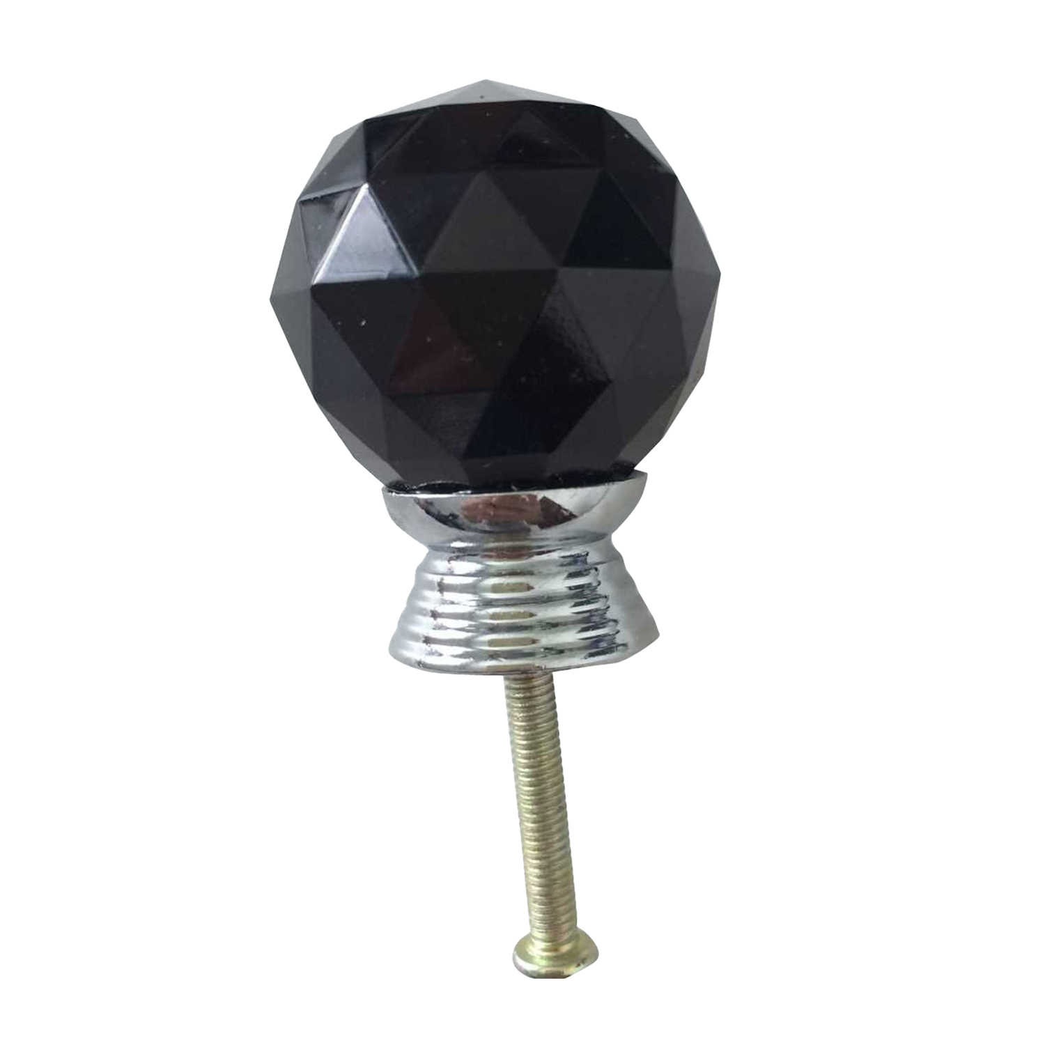 2pcs crystal glass door knobs cabinet furniture kitchen handle black o4r2 ebay Glass furniture pulls