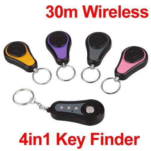 10x(4 in 1 Wireless Lost Key Finder Locator Find Locater Alarm Keychain 30m F3J3