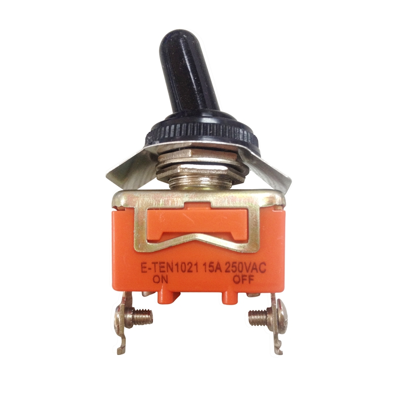 AC 250V 15A ON//OFF 2 Way 2 Screw Terminals SPST Toggle Switch w Waterproof Boot