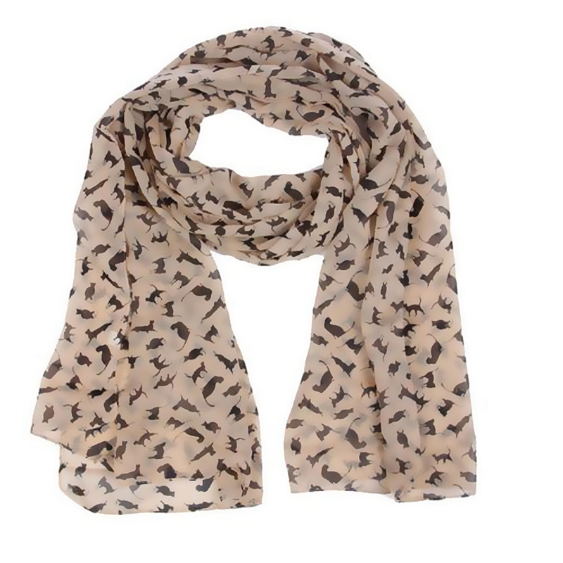 Cat Print Scarf Celebrity Fashion Shawl Scarves WRAP Ladies Animal New Soft R3C8