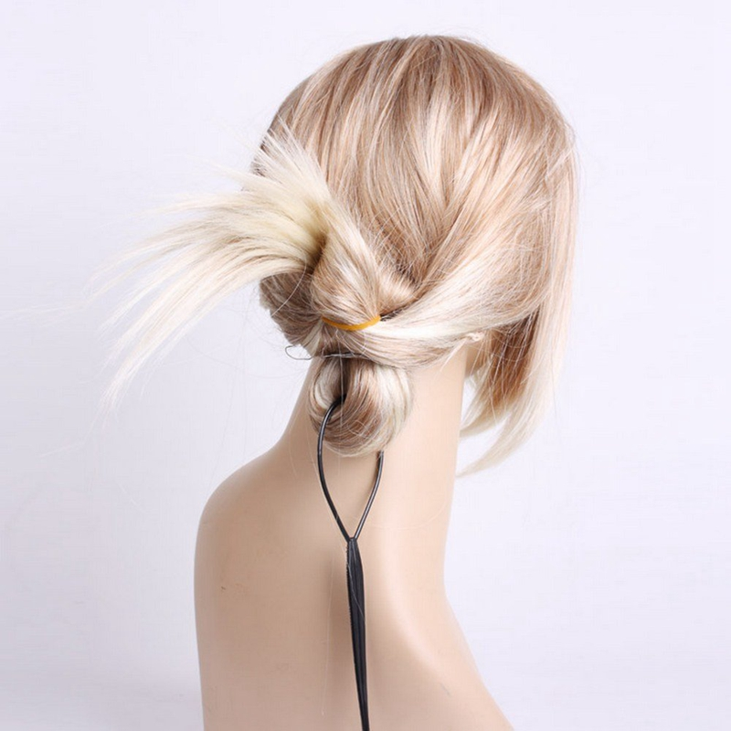 2-Stk-Topsy-Tail-Haar-Dreher-Styler-Frisurenhilfe-Hair-Twister-Schlinge-Sch-D4Y4
