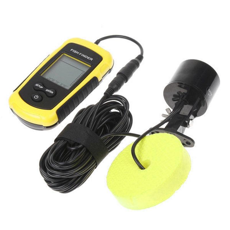 100m Profondeur Portable Sondeur De Peche Lcd Sonar Senseur Alarme Capteur E4h8