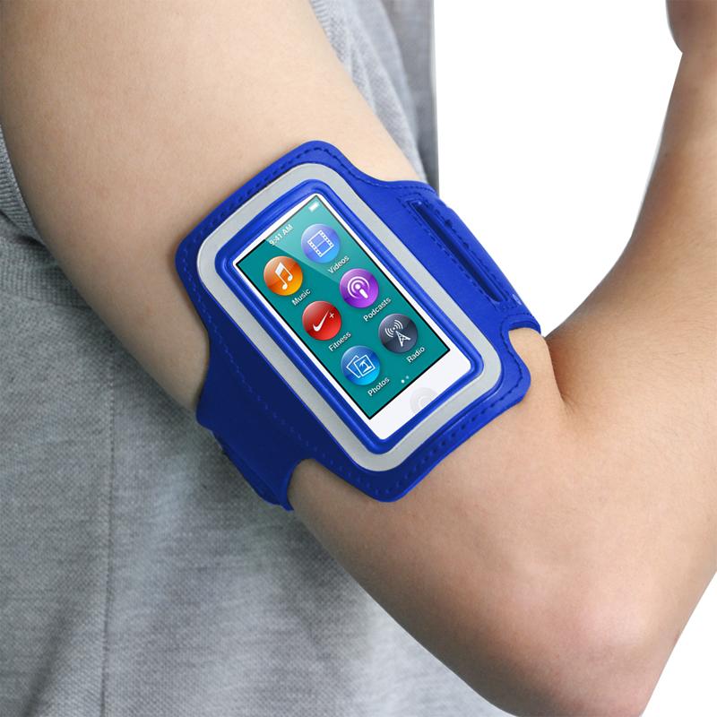 Sport-curir-Brassard-Housse-pour-Apple-iPod-Nano-7-amp-Stockage-de-cles-SC miniature 3