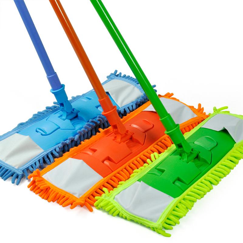NEW-Extendable-minifibre-Mop-Cleaner-Sweeper-Wooden-Laminate-Tile-Floor-WetT9A2 thumbnail 5