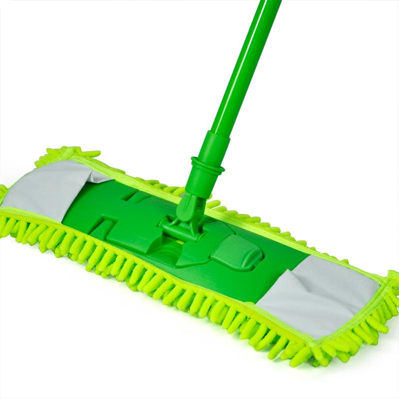 NEW-Extendable-minifibre-Mop-Cleaner-Sweeper-Wooden-Laminate-Tile-Floor-WetT9A2 thumbnail 6