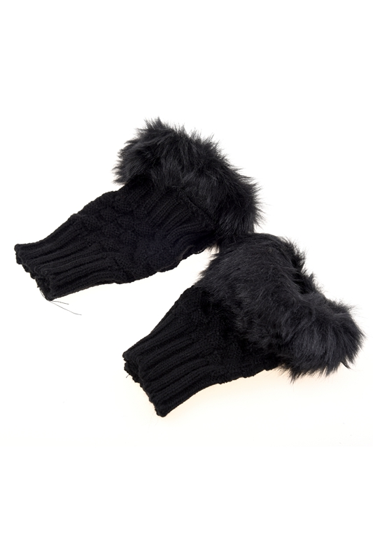 Lady-Girl-Shaggy-Faux-Fur-Knit-Fluffy-Hands-LEG-Warmers-Ankle-Boot-Covers-G-T7L2