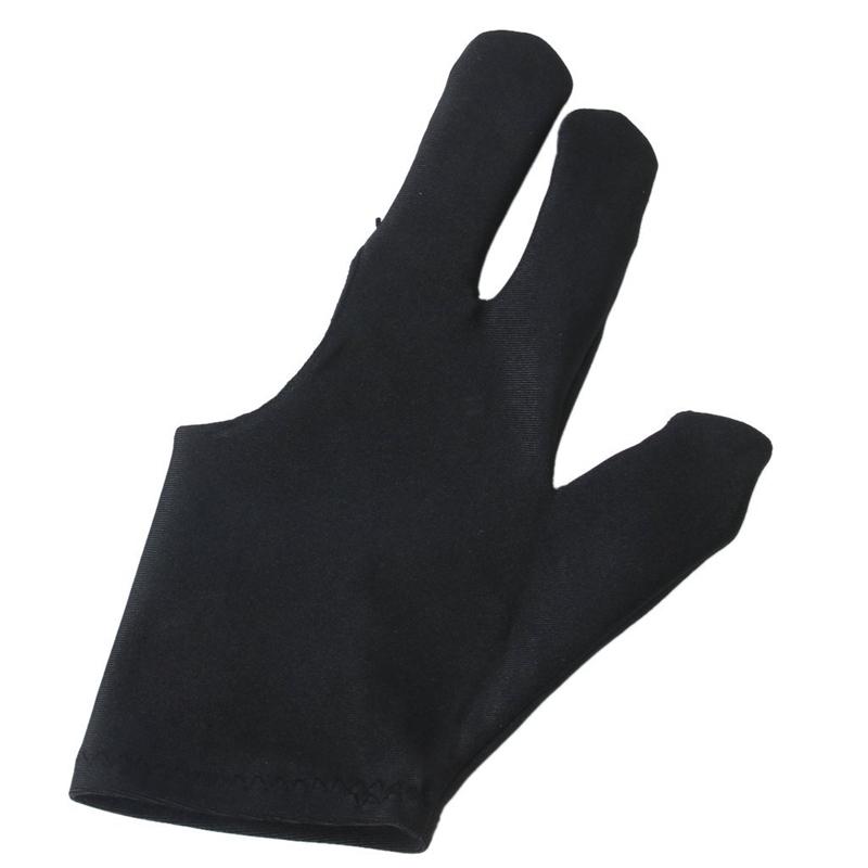 Noir Gant de Billiard de 3 doigts pour Tireurs