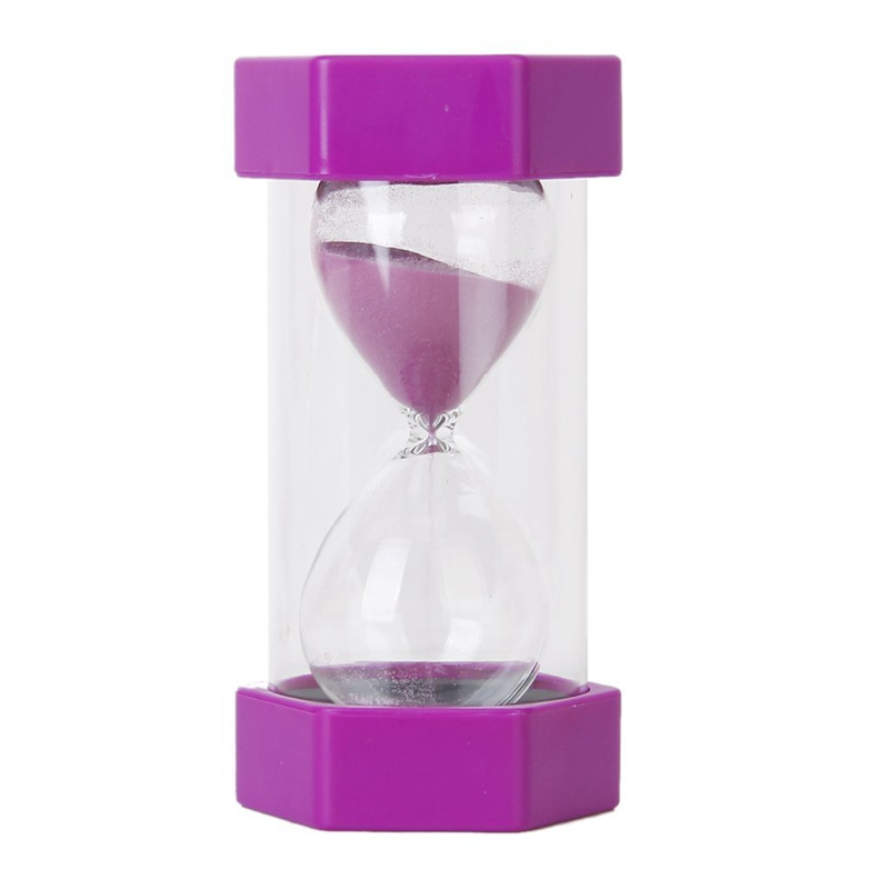20X(Hourglass 15 Minutes Hourglass of safety and fashion - violet. R6Y4)