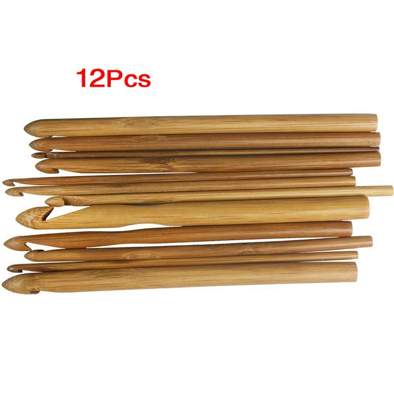 Doble Punta Wilk 8 Juego de 11 Agujas de Tejer de bamb/ú de 4,9 Pulgadas US 0 5,0 mm 2,0