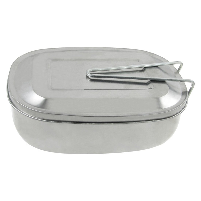 20X(Tono de argent Caja de picnic Caja de almuerzo Lata de comida con mango Z3B6)