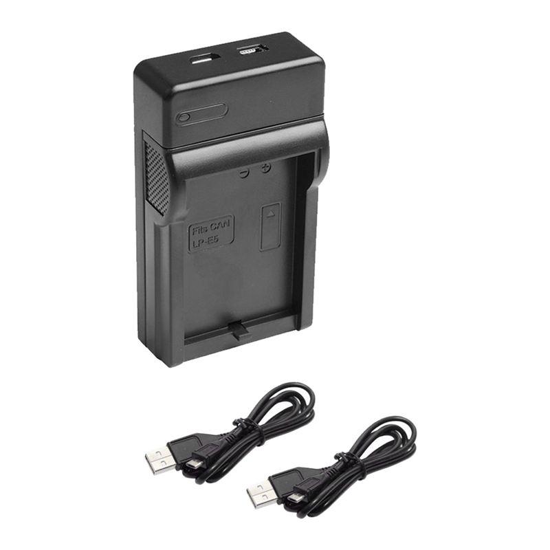 2x1200mah Lp-e5 Battery+usb Charger For Canon 450d 500d 1000d Xs Rebel X Bg-e5 Consumer Electronics
