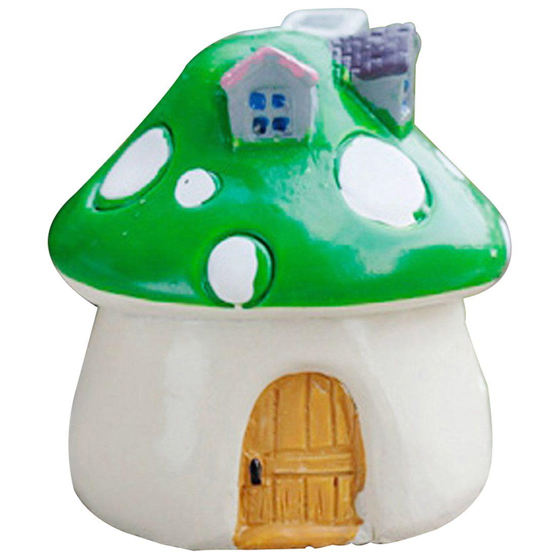 Mushroom House Resin Figurine Craft Pot Fairy Garden Decor Garden ...
