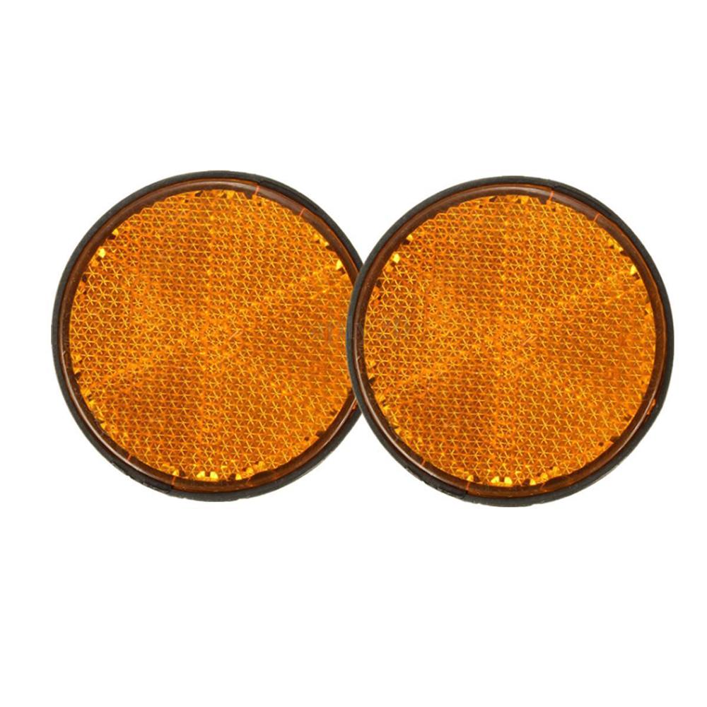 2 Pieces Orange Round Reflectors Marker for Motorcycle ATV Bikes Dirt Bike Automotive