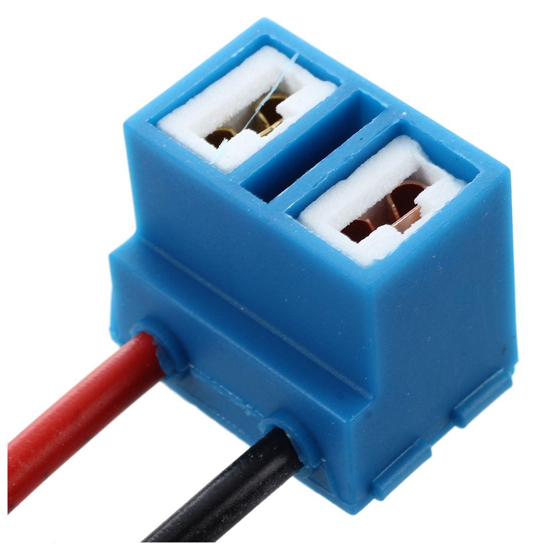 2 x H7 Ceramic Headlight Light Bulb Wire Plug Socket for Car T2M9 ...