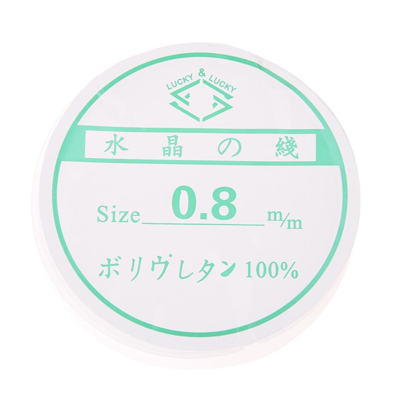 0-8mm-Claro-Linea-del-hilo-extensible-de-plastico-para-el-collar-J7J8